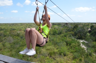 Claire zip lining