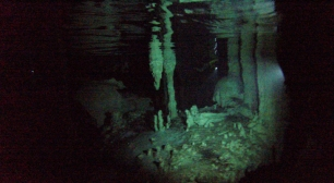 the cenote underwater view