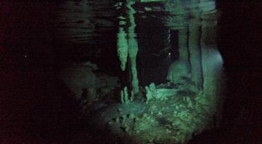 the cenote underwater view
