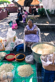 Cutest old lady selling corn