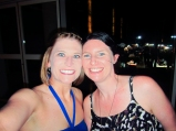 Claire and I before dinner