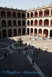The center of the palace
