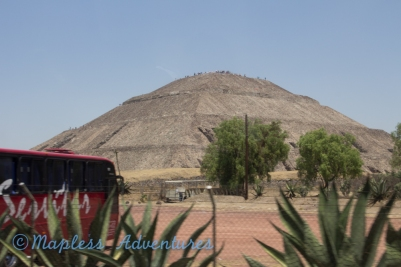 First view of the Pyramid of the SUn