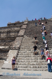 The stairs of the Pyramid of the moon