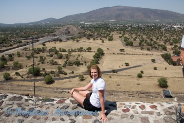 With the Pyramid of the Moon in the back ground